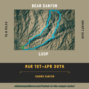 Bear Canyon Loop CCW Fastest in the Canyon Series